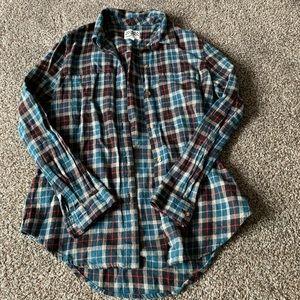 Vans button up flannel